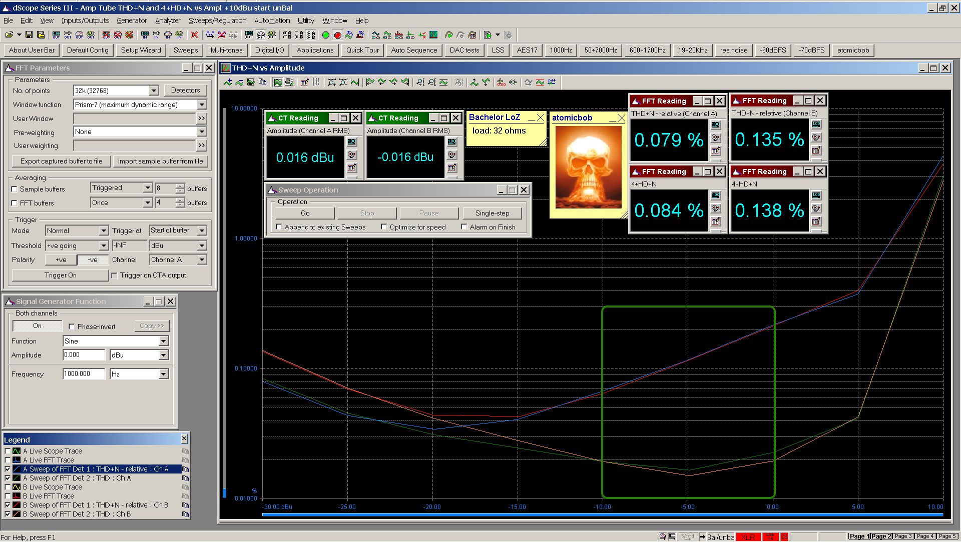 06 20200623 Bachelor 6z1p THD+N 4+HD+N vs dBu 1000Hz 32R HiZ 0dB gain - annotated 1.png