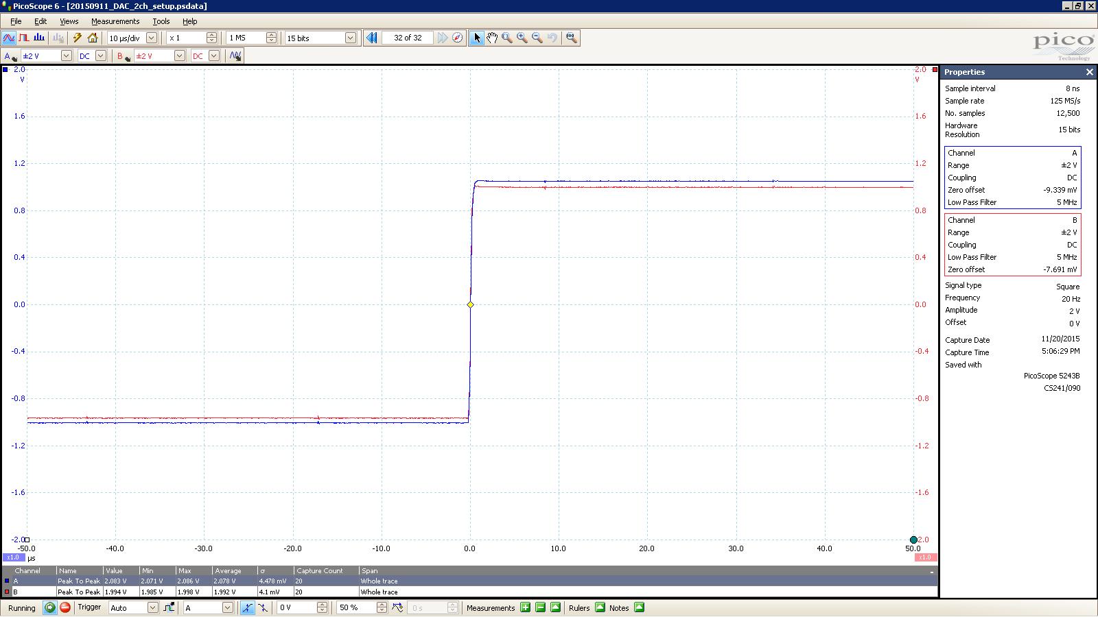 20151120 SigGen LiqCarb 20 Hz square 2000mVpp 10uS div 5MHz filter.PNG