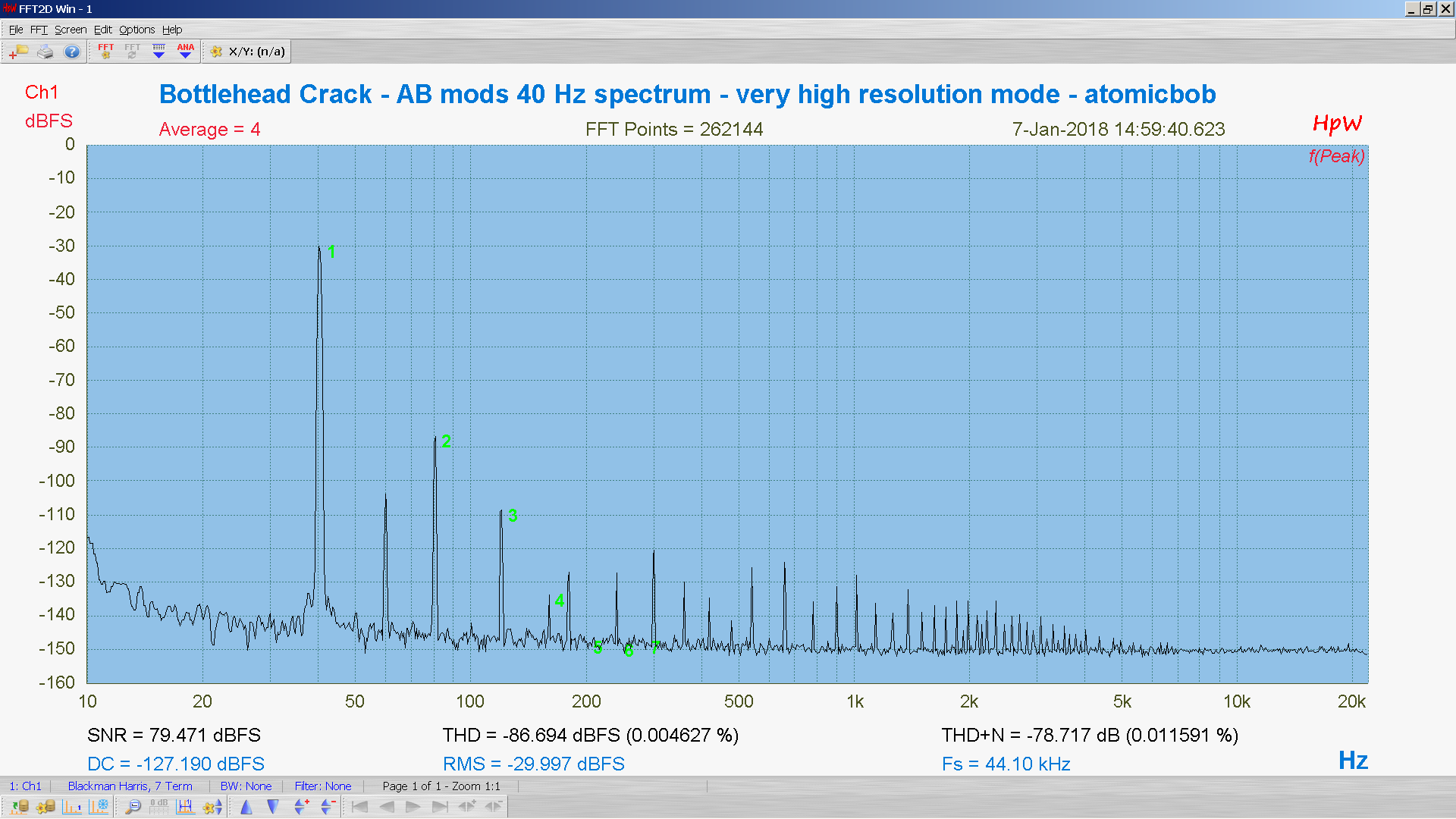 20180107-23 BH Crack e80cc 5998 40 Hz THD THD+N 262K FFT- ASIO -30 dBFS - HpW.PNG