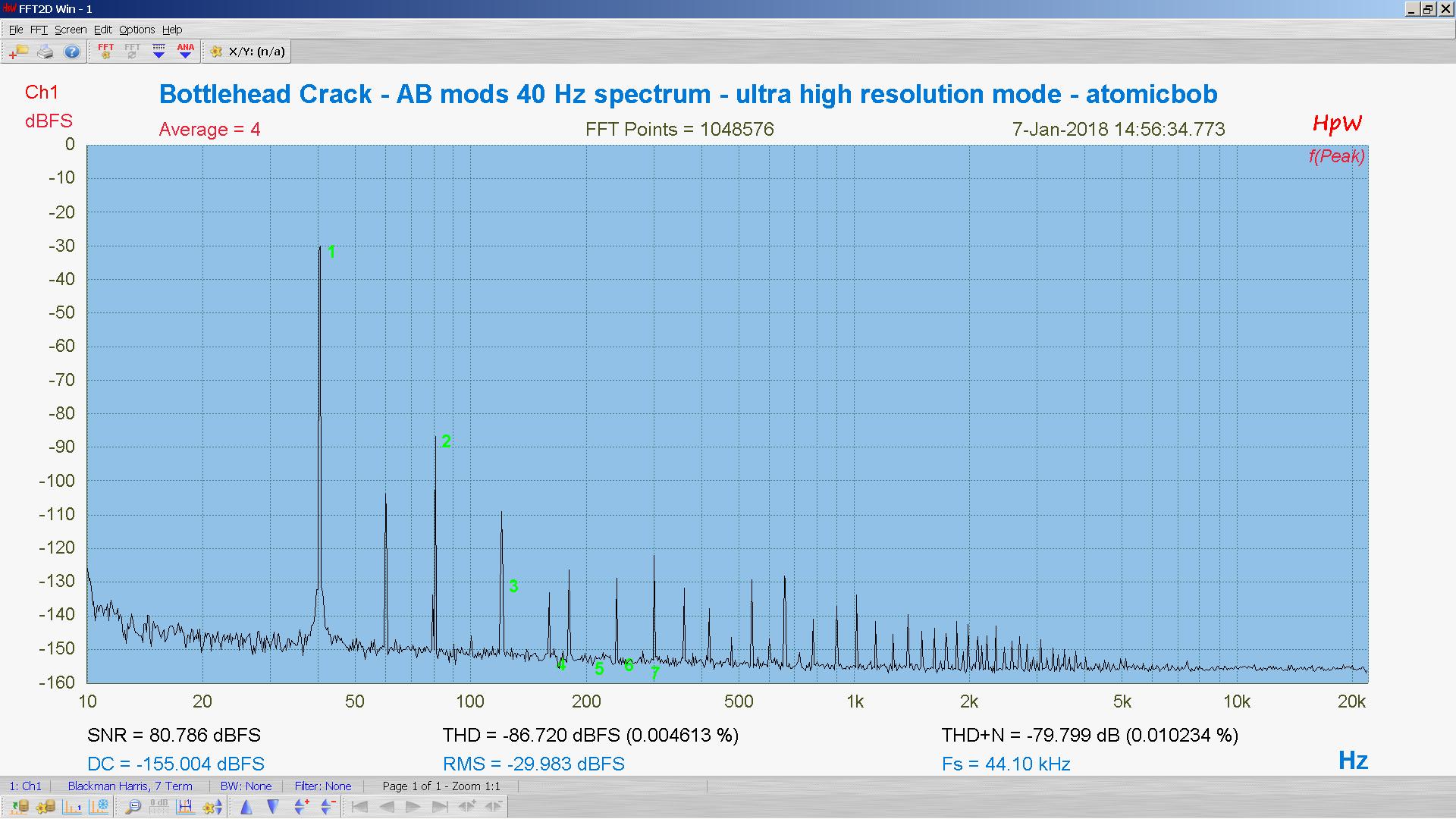 20180107-24 BH Crack e80cc 5998 40 Hz THD THD+N 1M FFT- ASIO -30 dBFS - HpW.PNG