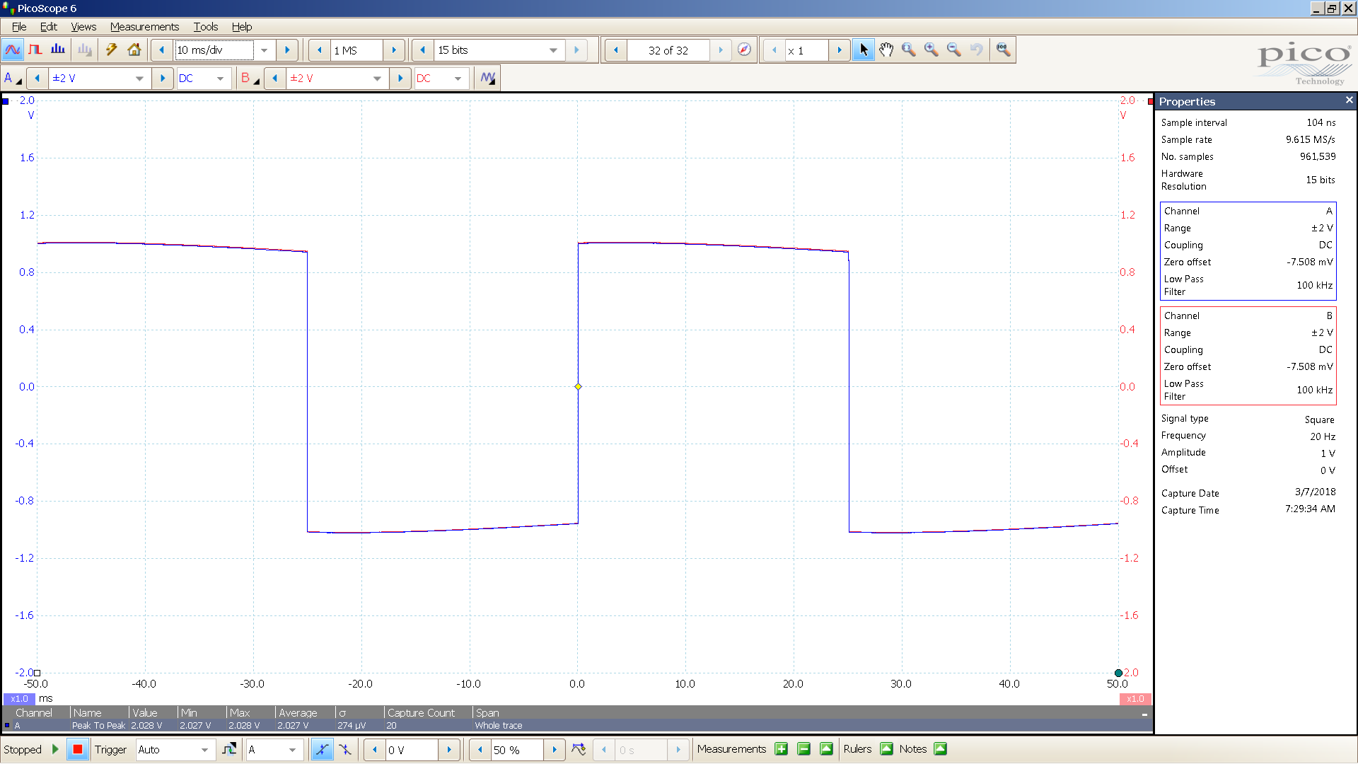 20180307 SigGen mcth 20 Hz square 2000mVpp 10mS div 100KHz filter 300R.png