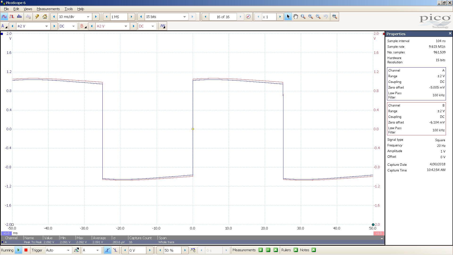 20180430 SigGen lyr3 20 Hz square 2000mVpp 10mS div 100KHz filter 30R.png