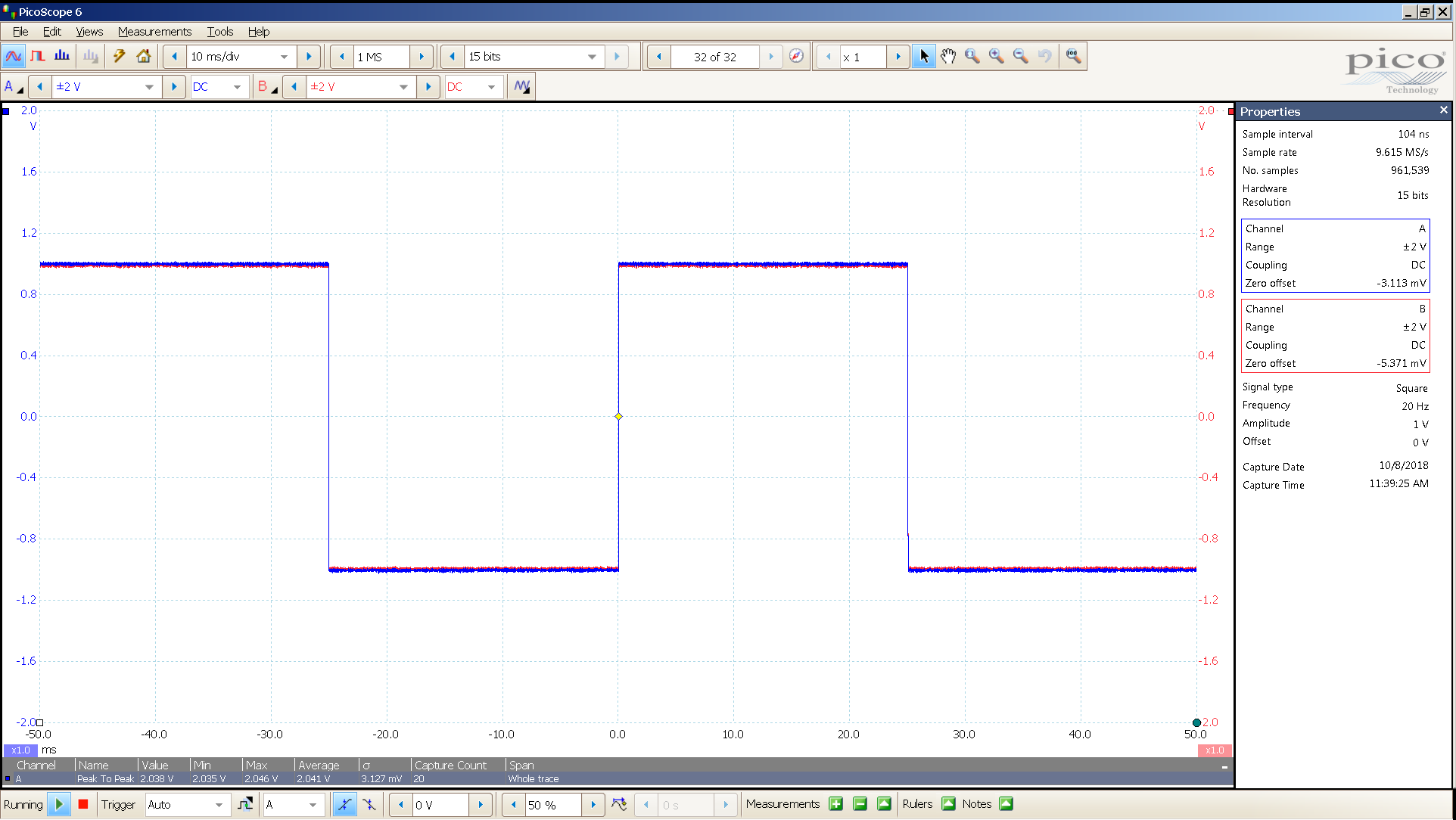 20181008 SigGen magni 3 20 Hz square 2000mVpp 10mS div 5MHz filter 30R.png