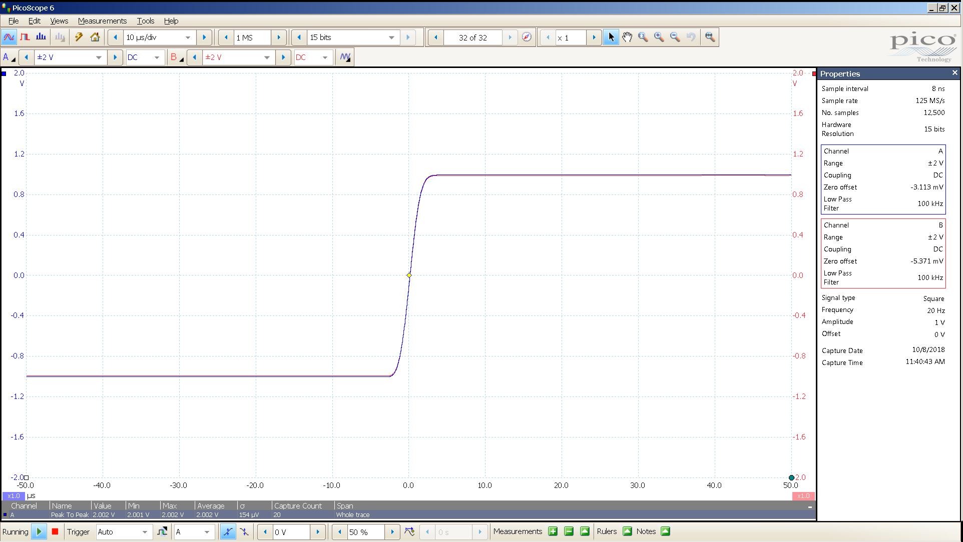 20181008 SigGen magni 3 20 Hz square 2000mVpp 10uS div 100KHz filter 30R.png