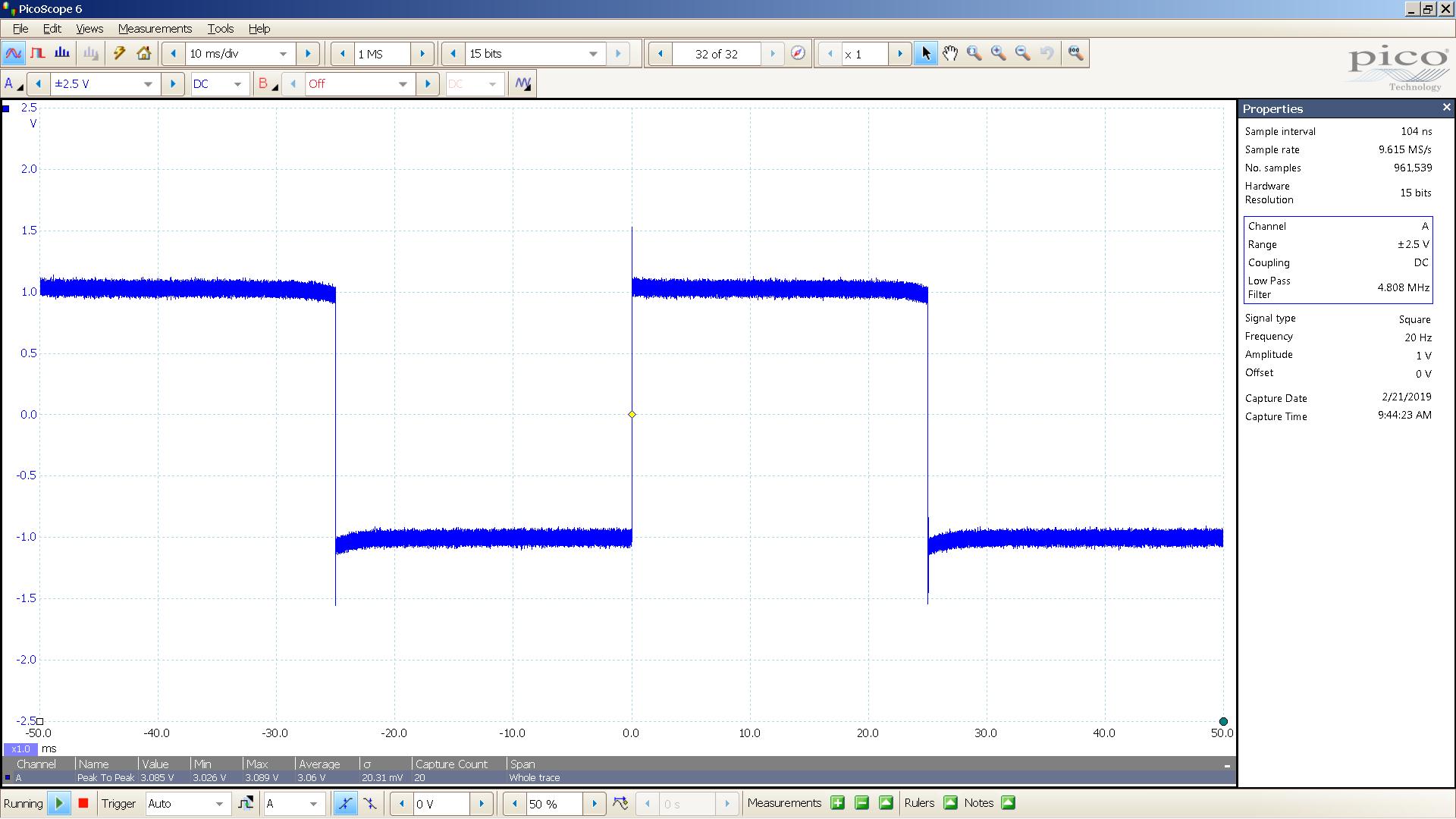 20190221 SigGen DSHA-3F 20 Hz square 2000mVpp 10mS div 5MHz filter 300R.png