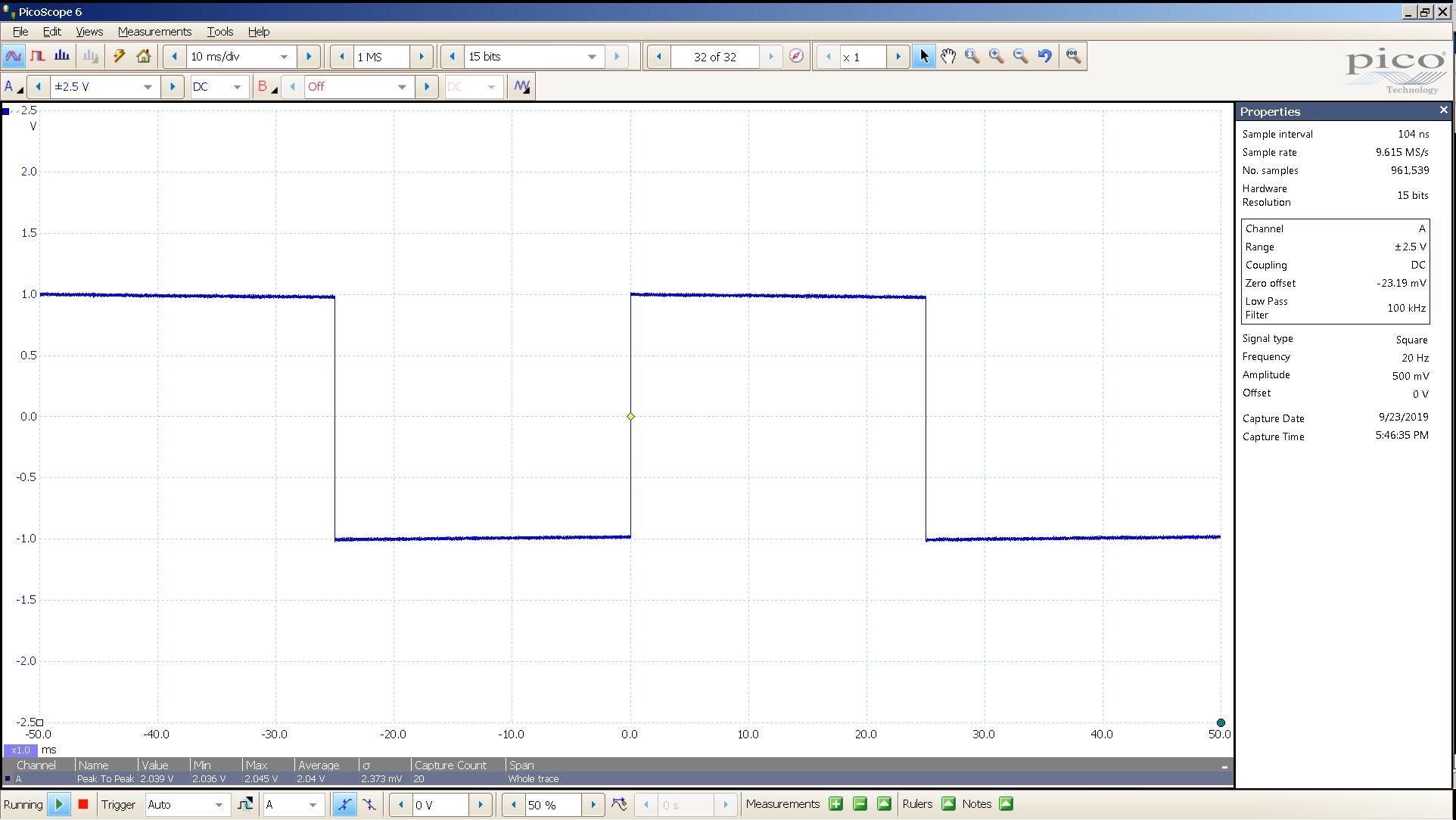 20190923 SigGen LiqGoldX 20 Hz square 2000mVpp 10mS div 100KHz filter 300R Bal.png