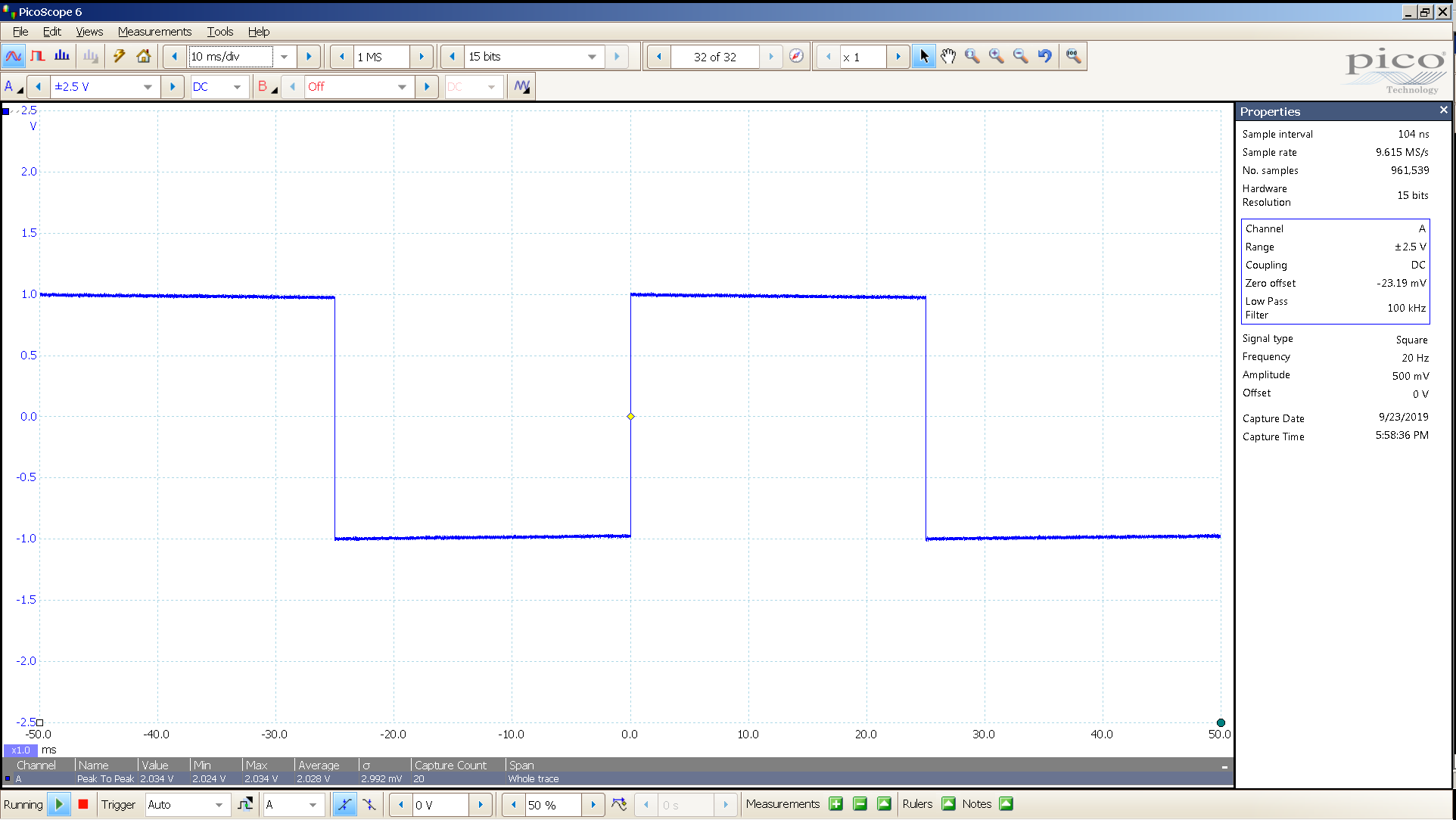 20190923 SigGen LiqGoldX 20 Hz square 2000mVpp 10mS div 100KHz filter 30R Bal.png