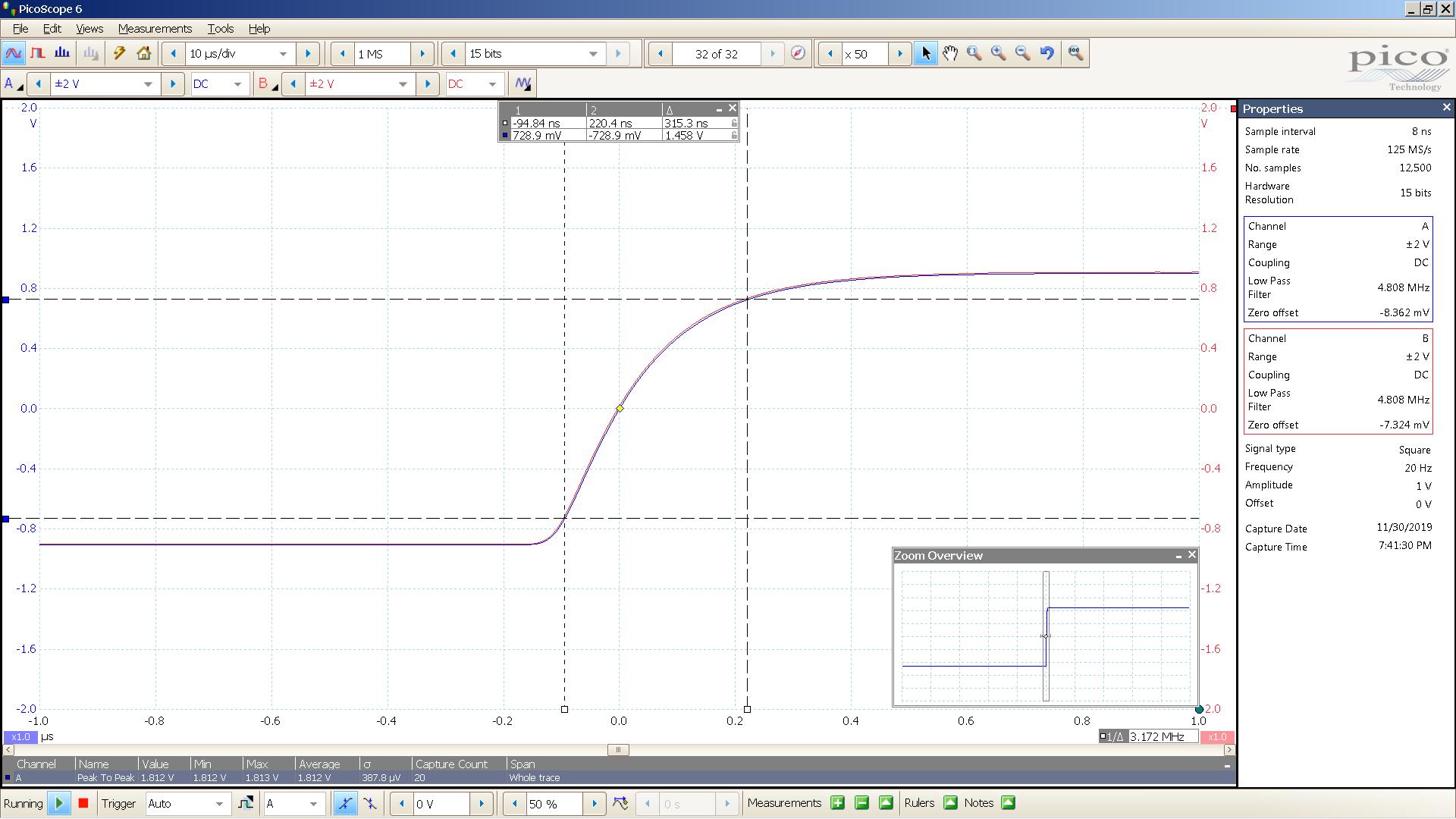20190930 SigGen magni 3+ 20 Hz square 2000mVpp 200nS div 5MHz filter 32R - BW calc.png