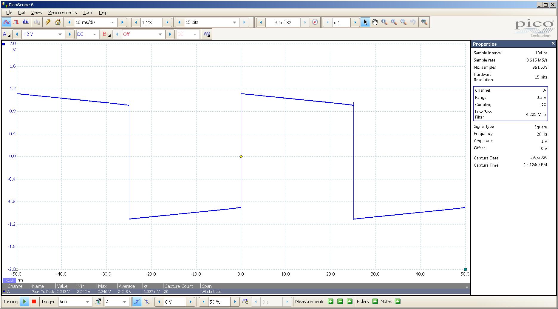 20200206 SigGen ECP T4 Mullard CV4024 20 Hz square 2000mVpp 10mS div 5MHz filter 300R.png