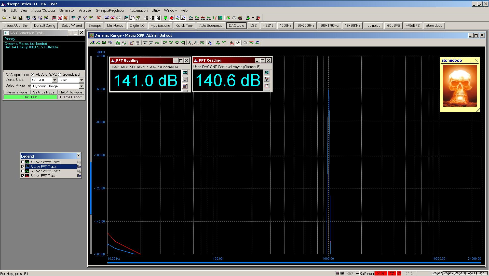 20200508 Matrix XSP dynamic range FFT AES Bal.png
