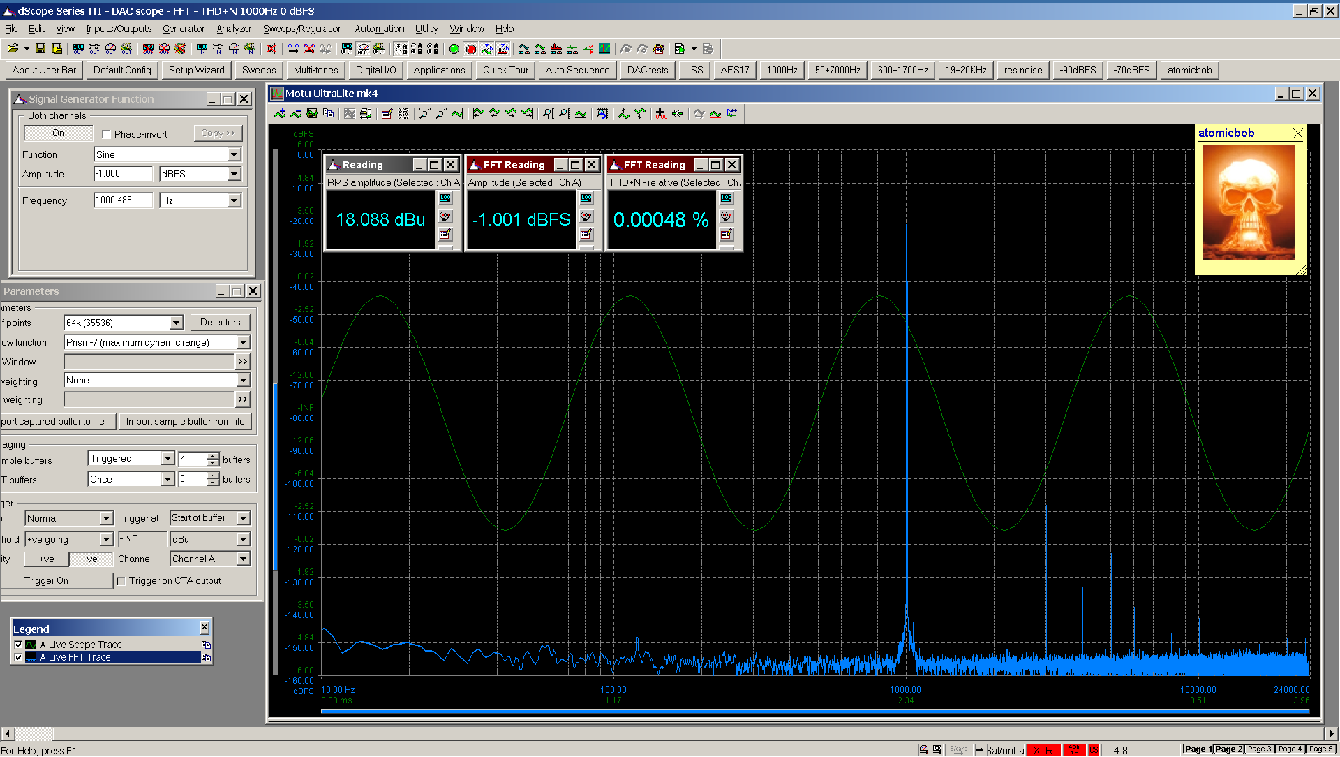 20200531-04 UltraLite-mk4 THD+N FFT -1_0 dBFS - spdif Bal.png
