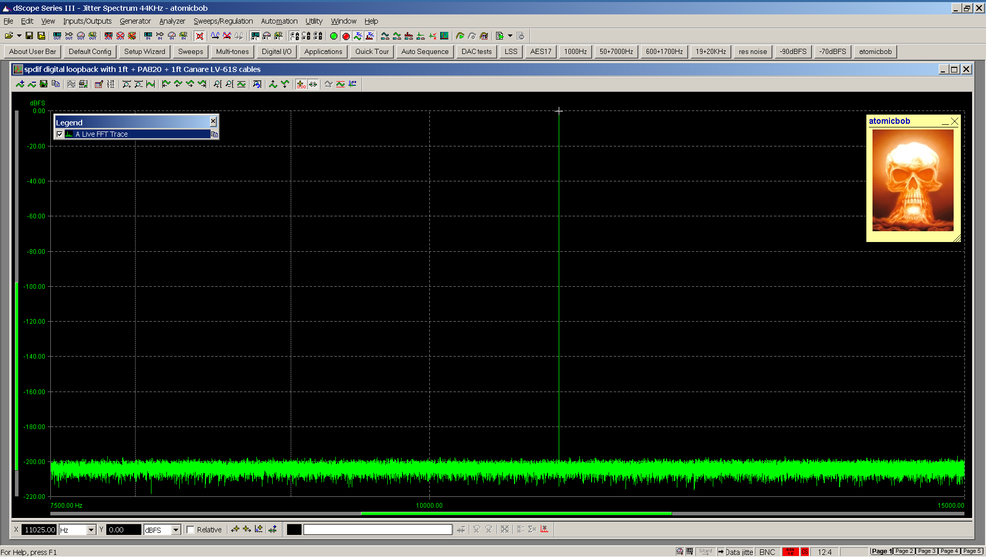 20201214 Inferred Jitter FFT - spdif loopback 1ft + PA820 + 1ft Canare LV-61S 44KHz.png