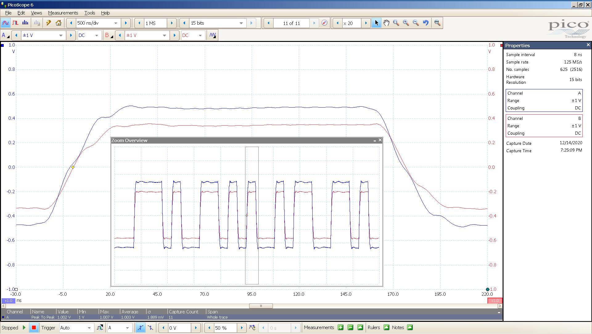 20201214 spdif 44KHz XFMR input blu - output red.png